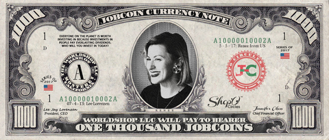 Kiva Borrower: Collect the Renee_from_US 1,000 JobCoin Note