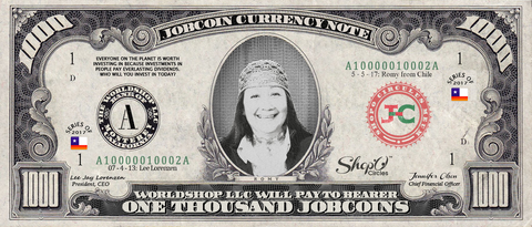 Kiva Borrower: Collect the Romy_from_Chile 1,000 JobCoin Note