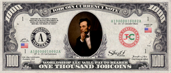 US Presidents:  Collect the Abraham Lincoln 1,000 JobCoin™ Note