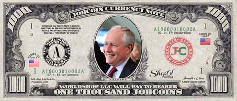Top Influencer:  Collect the Bill Kristol 1,000 JobCoin™ Note