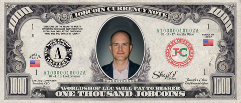ICO Expert: Collect the S009N005 Brian Armstrong 1,000 JobCoin™ Note