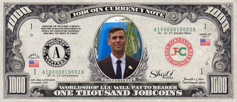 Limited Edition: Collect the Brian Gougherty 1,000 JobChoin Note -- August 2017 Honoree