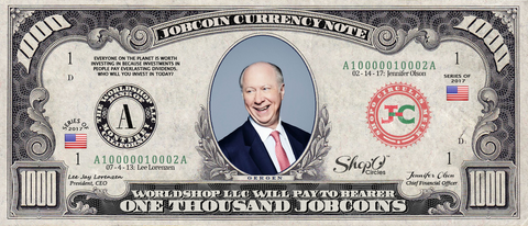 Twitter Celebrity:  Collect the David Gergen 1,000 JobCoin™ Note