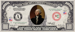 US Presidents:  Collect the George Washington 1,000 JobCoin™ Note