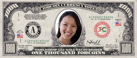 ICO Expert: Collect the S009N006 Linda Xie 1,000 JobCoin™ Note
