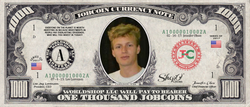 ICO Expert:  Collect the S009N004 Olaf Carlson-Wee 1,000 JobCoin™ Note