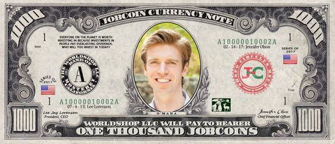 Top Influencer:  Collect the Collin O'Mara 1,000 JobCoin™ Note