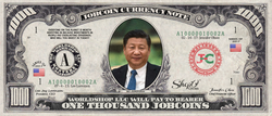 World Leaders:  Collect the Xi Jinping 1,000 JobCoin™ Note