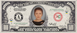 ShopO Leader: Collect the Alekseeva_from_Ukraine 1,000 JobCoin Note