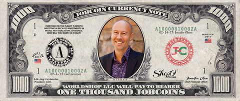Limited Edition: Collect the David Risher 1,000 JobChoin Note -- July 2017 Honoree