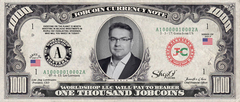 ShopO Leader: Collect the Gorin_from_Ukraine 1,000 JobCoin Note