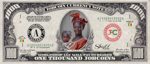 ShopO Leader: Collect the Mary_from_Mali 1,000 JobCoin Note