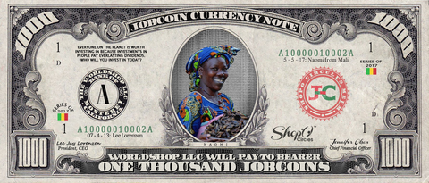 ShopO Leader: Collect the Naomi_from_Mali 1,000 JobCoin Note