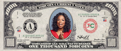 Twitter Celebrity:  Collect the Oprah Winfrey 1,000 JobCoin™ Note