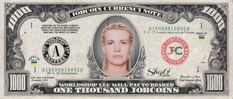 Limited Edition: Collect the Lidiya Solodovnikova 1,000 JobCoin Note -- June 2017 Honoree