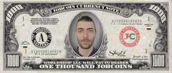 ShopO Leader: Collect the Todorov_from_Ukraine 1,000 JobCoin Note