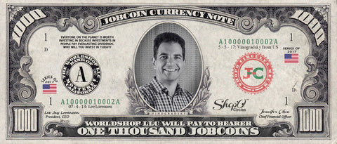 ShopO Leader: Collect the Vinogradsky_from_US 1,000 JobCoin Note