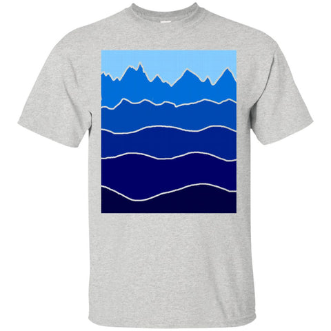 Landscape Staggered Blue