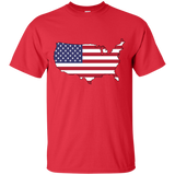 USA America Flag and Country Outline