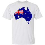 Australia Flag and Country Outline