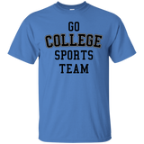 Go College Sports Team Black