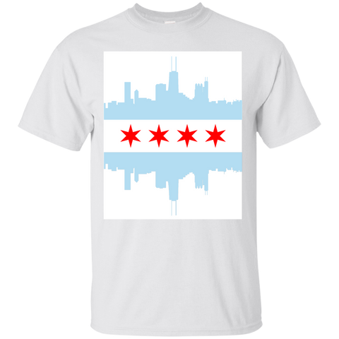 Chicago Flag and City Skyline