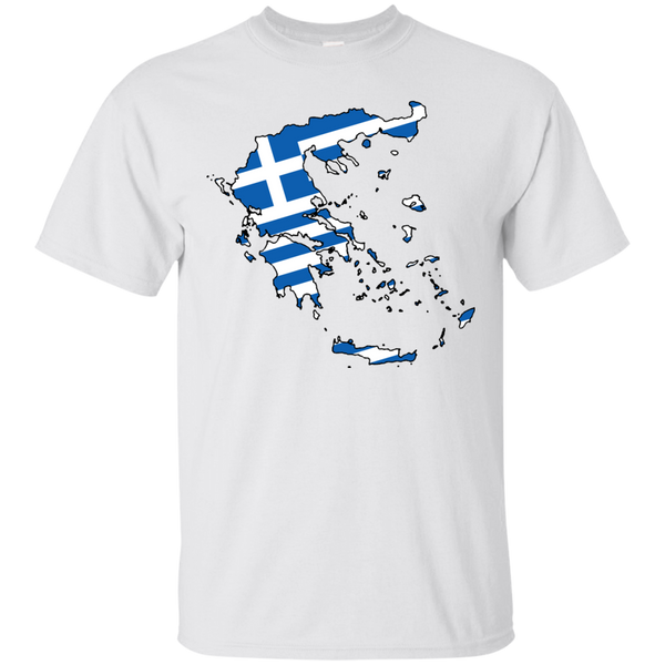 Greece Flag and Country Outline