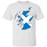Scotland Flag and Country Outline
