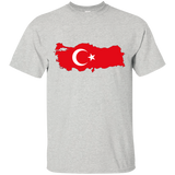 Turkey Flag and Country Outline