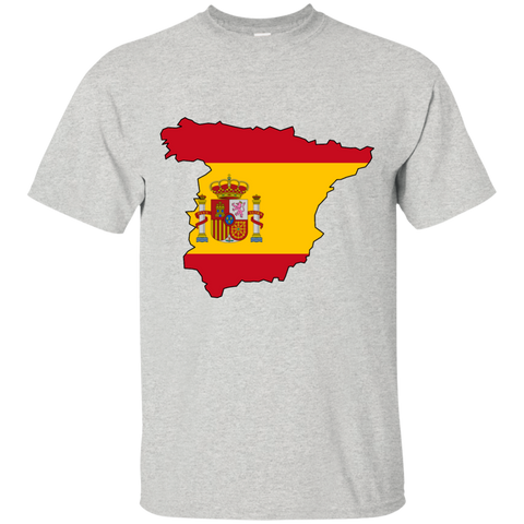 Spain Flag and Country Outline