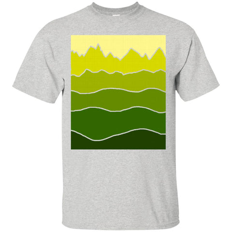 Landscape Staggered Green Yellow