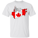Canada Flag and Country Outline