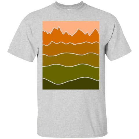 Landscape Staggered Orange Green