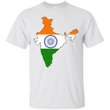 India Flag and Country Outline