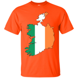 Ireland Flag and Country Outline