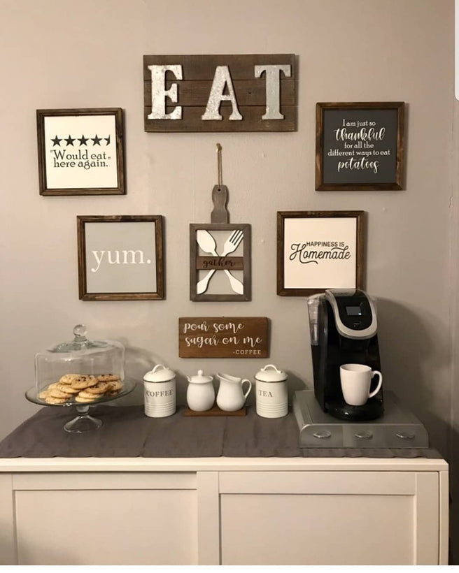 Dining room/Kitchen signs