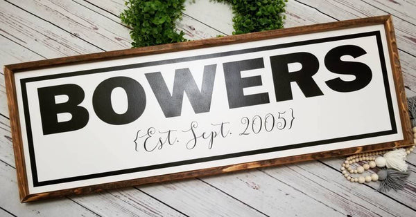 Custom last name sign, custom family sign, entryway sign, custom sign, Family name sign, custom wedding gift, last name sign, established