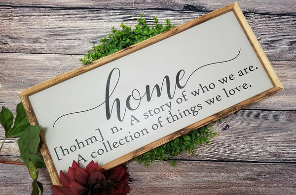 Home definition sign