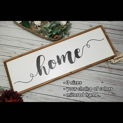 Home sign, farmhouse Home sign, white home sign, black home sign, Home sweet home sign, entryway decor sign, farmhouse decor, Wood home sign