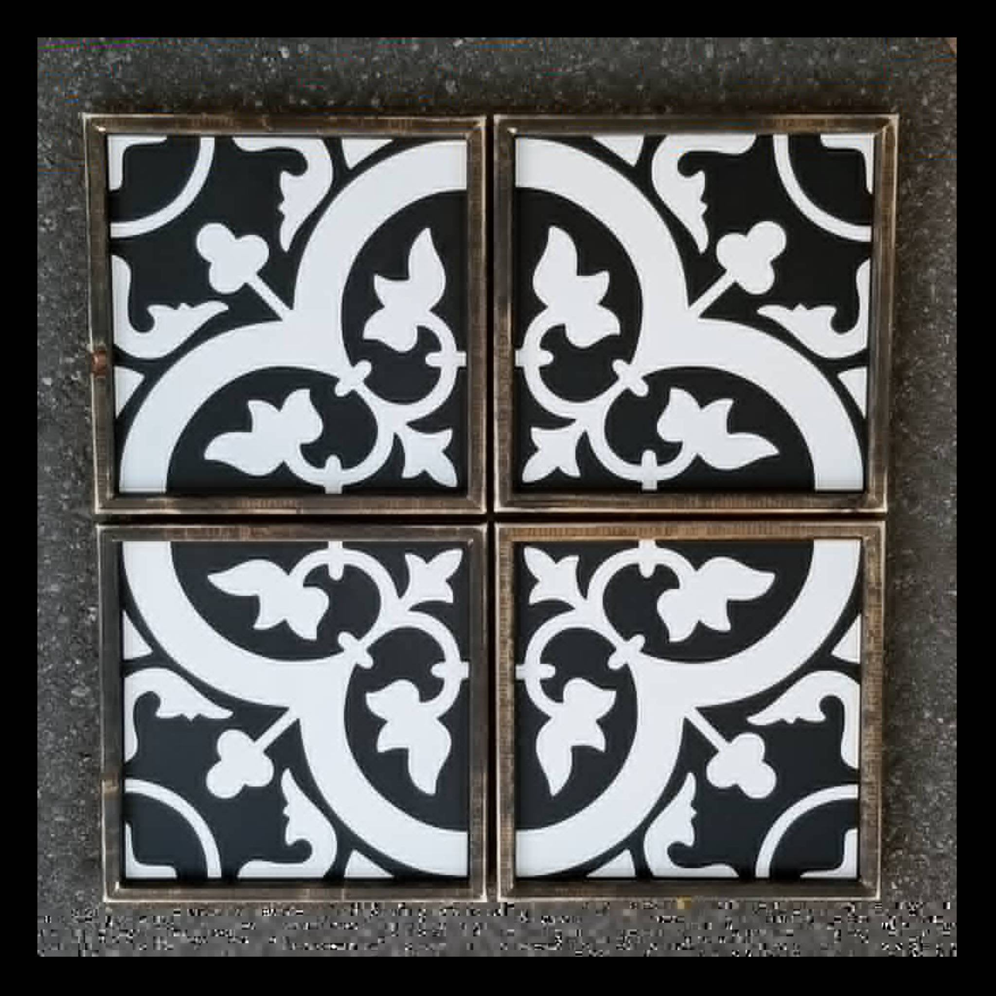 Spanish tile sign set of four, Moroccan tile sign, farmhouse tile sign, tile inspired sign, tile sign, Spanish tile, cement tile sign