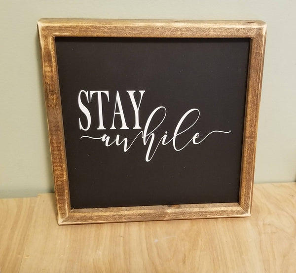 Stay awhile sign, stay a while sign, stay awhile wood sign,  sign, guest room decor, bedroom sign, bedroom decor
