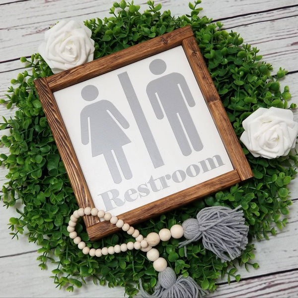 Restroom sign, men's, women's or traditional