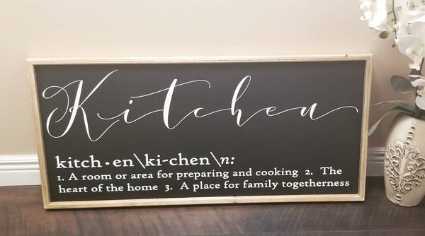 Kitchen definition sign
