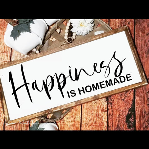 Happiness is homemade, wood sign, kitchen sign, kitchen decor, happiness is homemade sign, farmhouse decor, living room decor, kitchen art