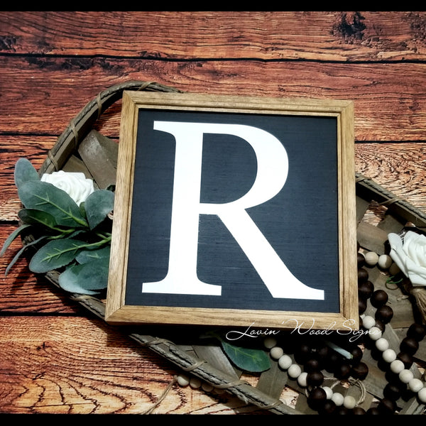 Monogram sign, gallery wall sign, nursery sign, Farmhouse decor, initial sign, letter sign, nursery decor, family initial sign, number sign