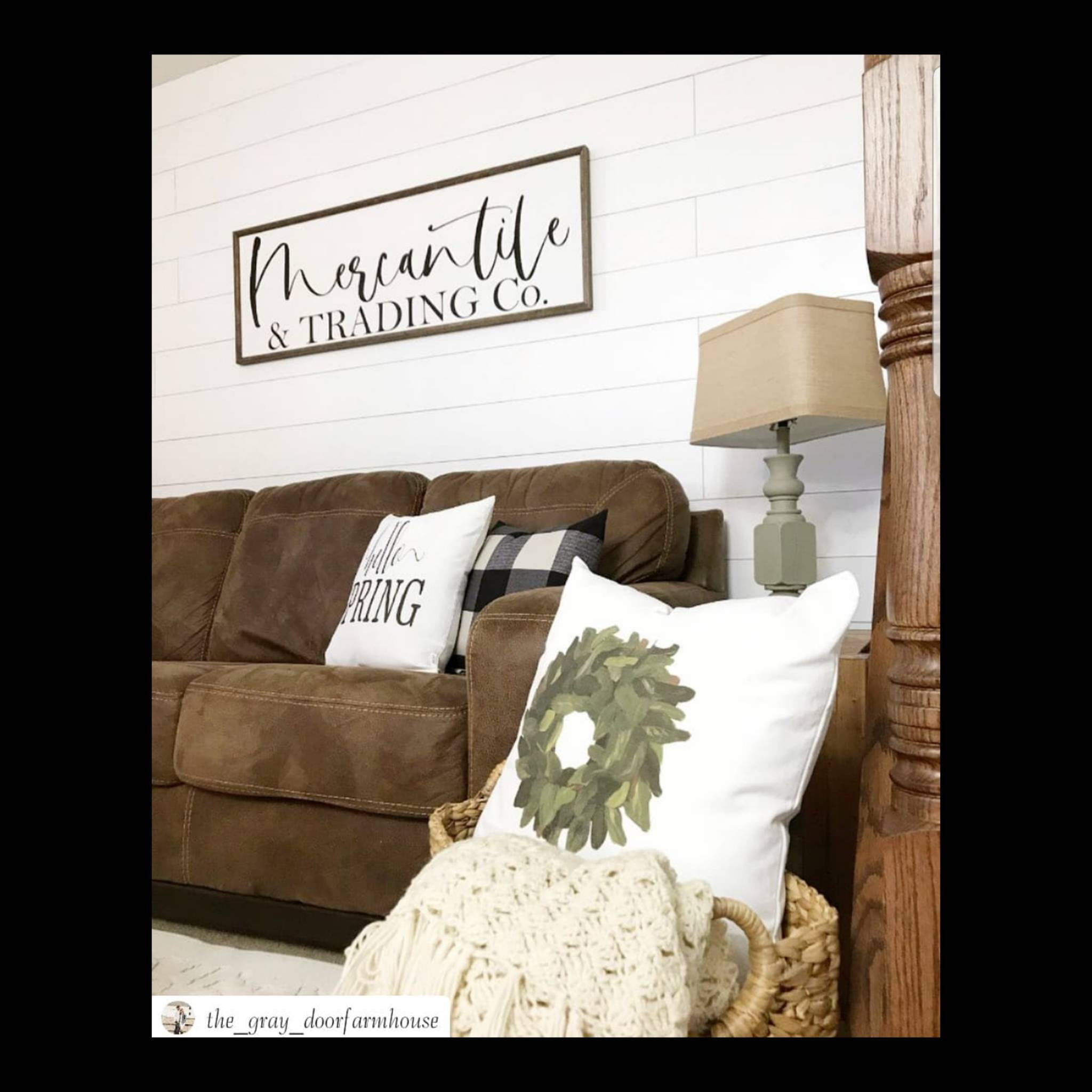 Mercantile sign, mercantile wood sign, living room sign, farmhouse sign, Fixer Upper style  sign, farmhouse decor, large mercantile sign