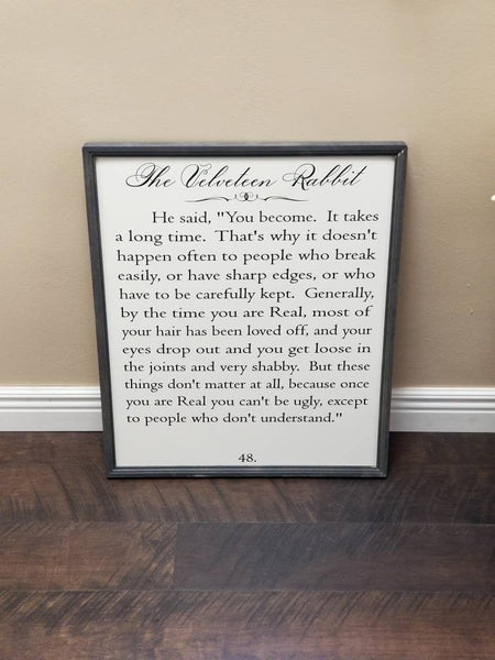 The Velveteen Rabbit sign
