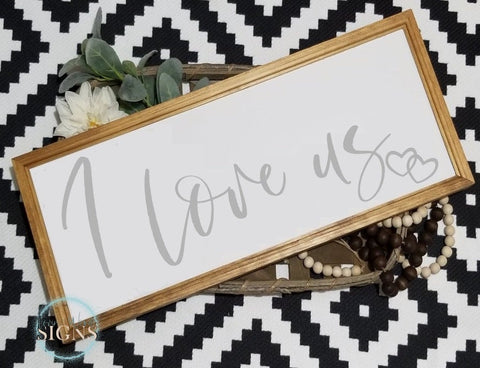 I love us sign,I love us wood sign, I love us, master bedroom decor, over the bed sign, bedroom sign, bedroom decor, headboard sign, love