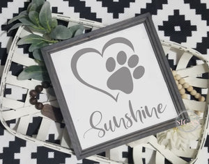 Dog sign, dog name sign