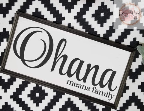 Ohana sign, family sign, Ohana means family, Living room sign, gallery wall, farmhouse sign, Hawaiian Decor